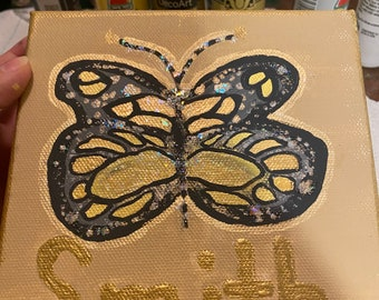 Custom Butterfly Canvas