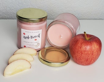 Apple Harvest Soy Wax Candle | Fall Candle | Spiced Apple Scented Candle | Non-Toxic Soy Candle
