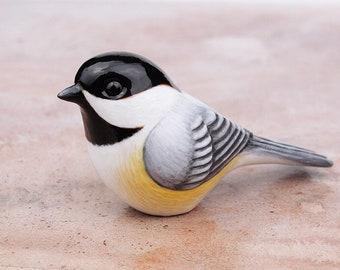 Chickadee - handmade bird figurine