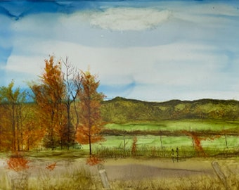 Open Fields with Fall Trees