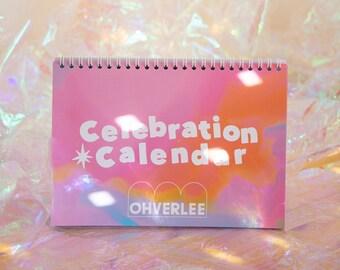Instant Sunshine Pink Lilac Celebration Calendar