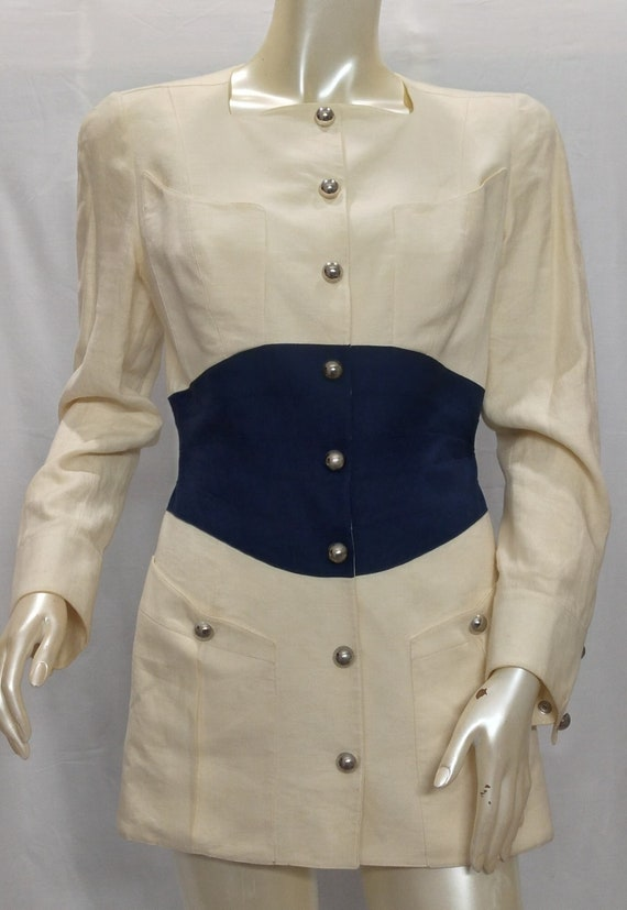 THIERRY MUGLER Vintage Linen Jacket