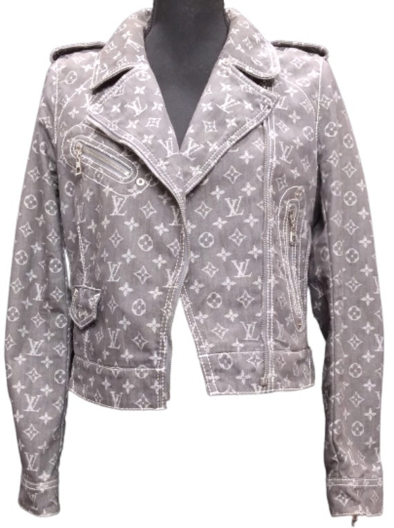 Women's Louis Vuitton Denim Jacket Vintage LV Mono