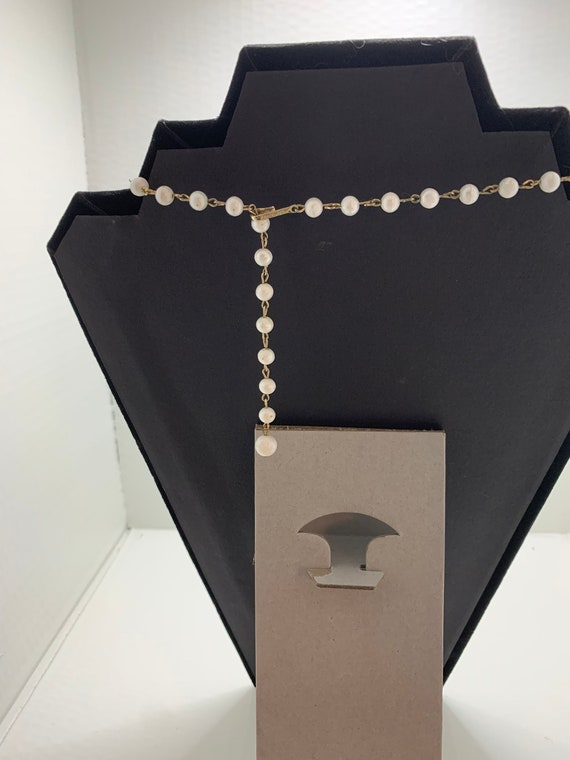Vintage Coro Signed Mother of Pearl Link Necklace… - image 3