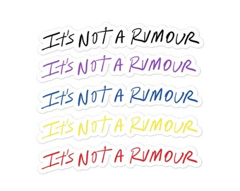 It's Not a Rumour Book Title Stickers