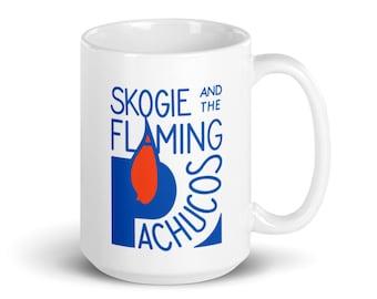 Skogie and the Flaming Pachucos White Glossy Mug