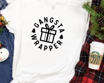 Gangsta Wrapper Shirt, Funny Christmas Shirt, Christmas Tshirt Designs, christmas tshirts, christmas tshirt mens, Christmas Shirt, Xmas Tee