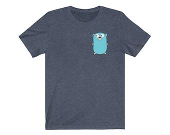 Gopher | Golang | Go T-Shirt | Golang T-Shirt | Coding Tees | Golang Gopher T-Shirt | Coding T-Shirt | Programmer T-Shirt