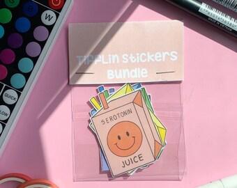 Serotonin Juice Sticker Bundle   Cute Stickers   Sticker Bundle Cute   TiffLin Stickers   Kawaii Stickers
