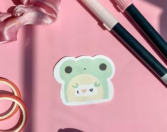I Love You Frog Sticker, Frog Sticker, Cute Stickers, Froggy Stickers, Aesthetic Sticker,  Tifflin Stickers