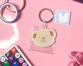 Bear Acrylic Keychain , Acrylic Keychain, Cute Keychain, Tifflinstickers, tifflin