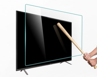 TV Screen Protector for Flat and Curved Shape Screen. Special Dimensions for All Brands. Damage Protection and Waterproof.