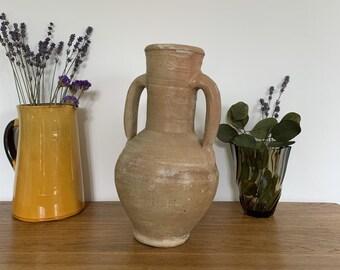 Amphora jar ancient mediterranean clay rustic primitive clay Amphora Jar Jug old pottery