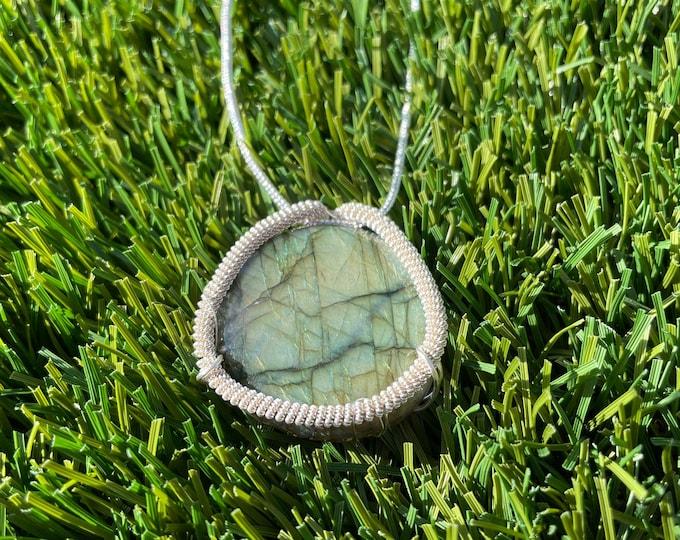 Labradorite, Labradorite Necklace, labradorite Pendant Necklace, Wire Wrapped labradorite Jewelry