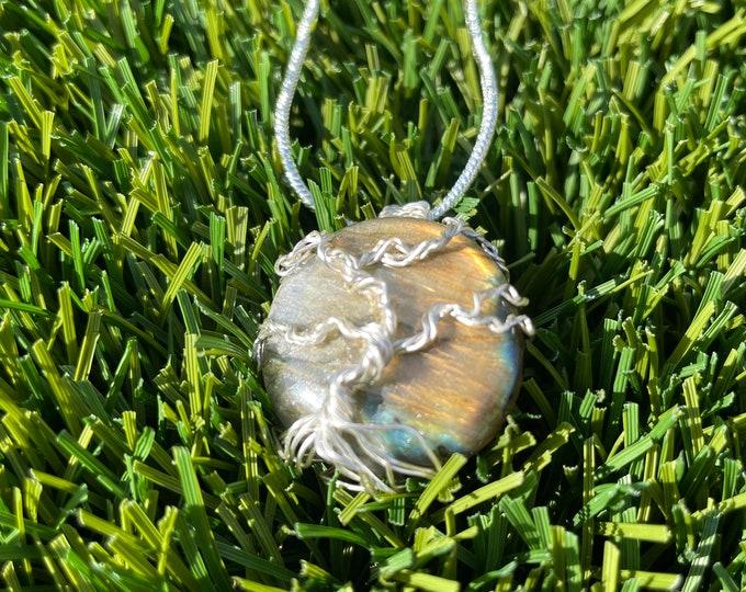 Labradorite, Labradorite tree of life Necklace, tree of life Pendant Necklace, Wire Wrapped labradorite tree of life Jewelry