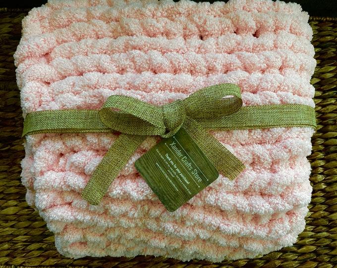 Chenille chunky throw lap blanket