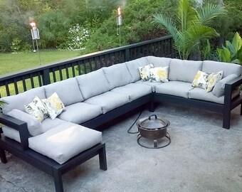 Armless 2x4 Outdoor Sofa - Sectional Piece