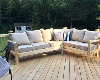 One Arm 2x4 Outdoor Sofa - Sectional Piece