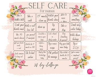 Self care for mamas, 30 day challenge