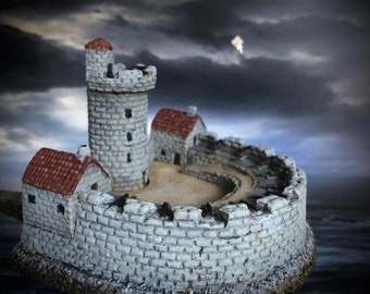 Island fortress, kit, scale 1:700