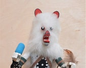 11 quot White Bear Kachina Doll by K. Largo circa 1990 39 s