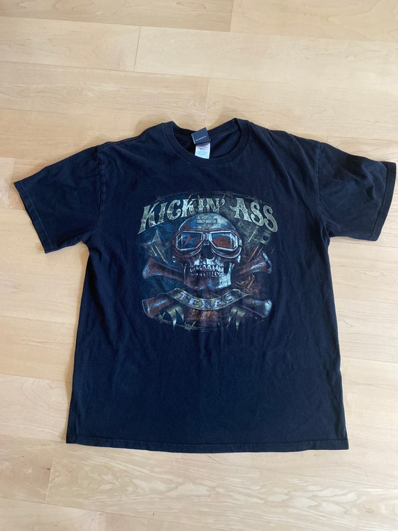 Harley Davidson Kickin'Ass Motorcycles T-shirt Uni
