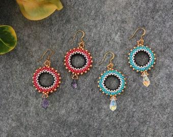 Beaded Circular Earrings