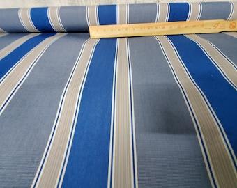 "Sunbrella® Striped Fabrics 46' wide Pacific 46"", sold by yard"