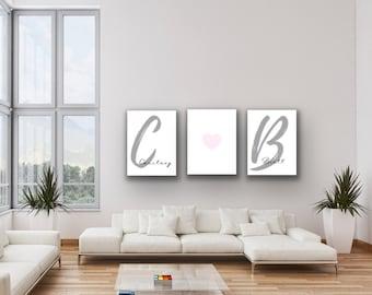 Couples Initials   Bedroom Decor   Wall Art   Printable