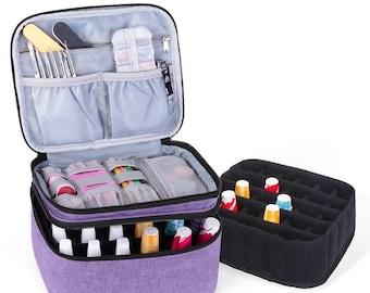 Nail polish carrying case Nail polish organiser hold 30 bottles 30 bottles double later design