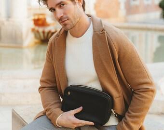 Multipurpose Men's Bag | Black Tycoon Model | Handbag