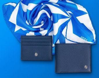 "Pocket scarf man ""April"" | 100% silk scarf for Men | Square scarf 43 x 43 cms"
