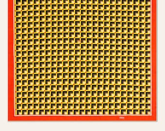 Silk scarf 100% | Model 529 | 90 x 90 cms | Geometric Print Foulard