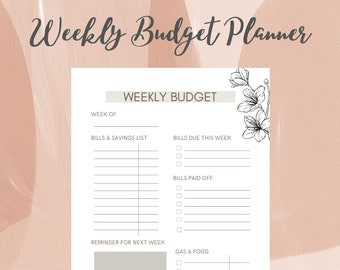 Weekly Budget (15)