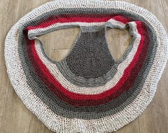 Red and Grey Mandala circle Vest