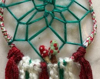 Mushroom Christmas Dreamcatcher