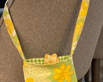 Reversible Upcycled Vintage Flower Power Bag