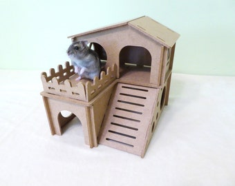 Hamster castle House for rodent, gerbil, small rodent, mouse house Cage accessories Hideout