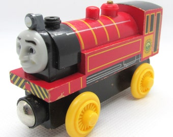 Victor, Wooden Train, Thomas wooden railway, wood trains, Thomas The Tank Engine, Thomas and friends, Real wood, Kids toy, gently used.