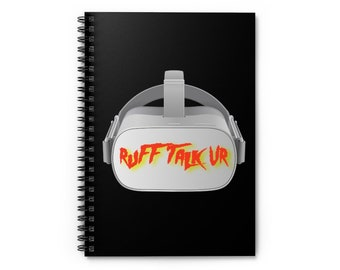 Ruff Talk VR - Spiral Notebook - Ruled Line
