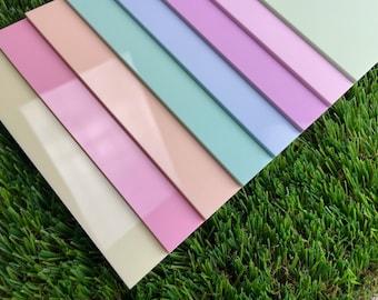 "Pastel Acrylic Sheets. Glowforge 11.75"" x 19"""
