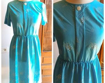 Vintage dress 1970s 1980s, 70s 80s, floral print, floral print, vintage dress,