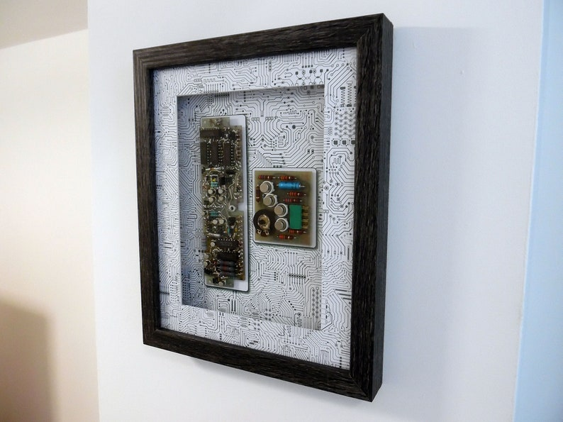 Framed Circuit Board Wall/Desk/Table Art  Circartry No: 7 image 1