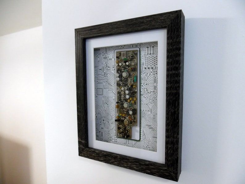 Framed Circuit Board Wall/Desk/Table Art  Circartry No: 6 image 1