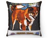 Spun Polyester Square Pillow Doge