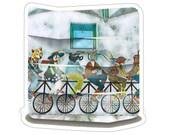 Bike Doge Stickers