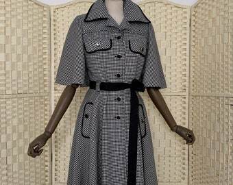 Mansfield Dogtooth 60s Coat/Dress