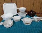 14 pcs Corningware Ovenware Cookware
