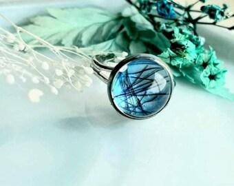 Hair/ashes memorial ring handmade