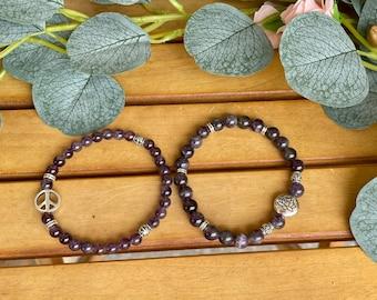 Custom Amethyst Bracelet